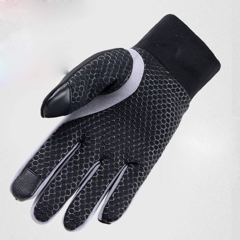 June# Winter Warmer Sport Gloves,Mens Winter Therm With Anti-Slip Elastic Cuff Thermal Soft Lining Gloves,Motorbike Warm Gloves Cycling Motorcycle Camping Skiing Gloves in Cold Weather