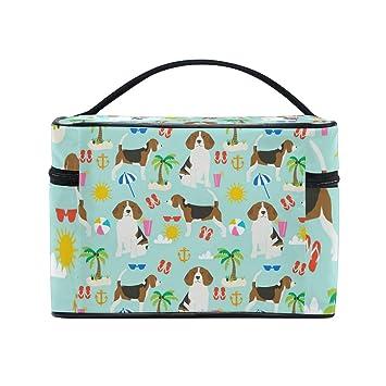 358a8524db28 Amazon.com : Beagle Dog Mint Cosmetic Bags Organizer- Travel Makeup ...
