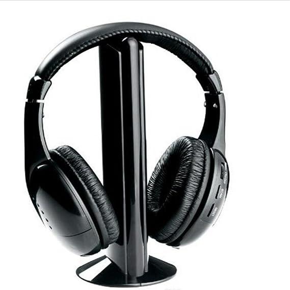 UniquQ 5 in 1 HiFi Wireless Headphone Earphone Headset FM Radio Monitor MP3 Audio Auriculares Mikrafon