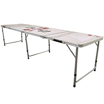 Phenomenal Beer Pong Table Official Size Folding Party Drinking Games Outdoor Indoor Portable Prosecco Pong 8Ft Download Free Architecture Designs Scobabritishbridgeorg