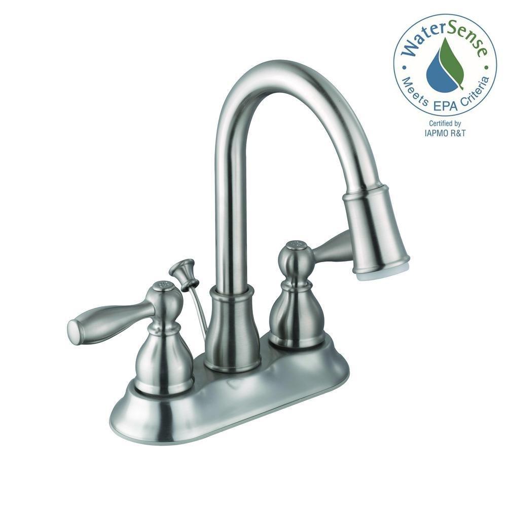 Glacier Bay 67513w 6b04 Centerset 2 Handle Led Bathroom Faucet In Brushed Amazon Com Industrial Scientific