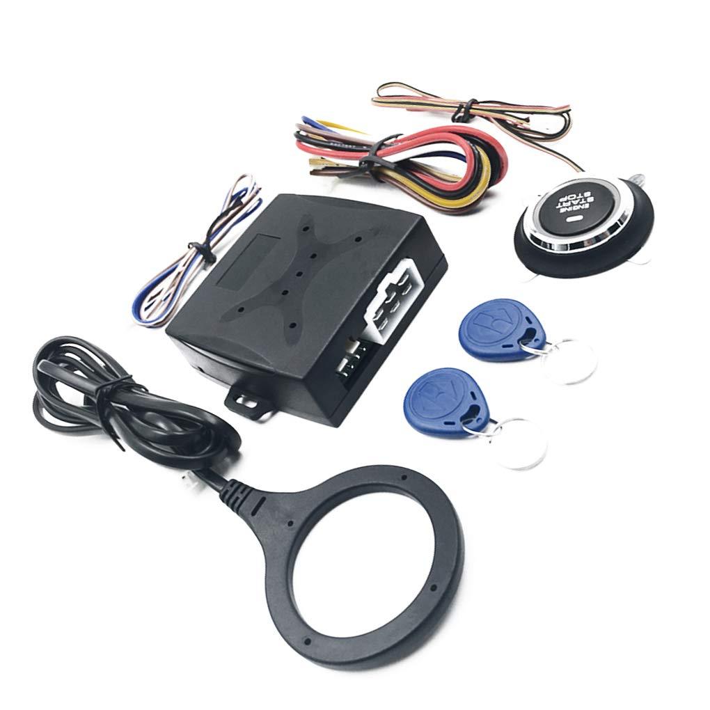 12V Car Smart Security Keyless Entry Push Start Alarm System Remote One-Button Start Foot Brake Detection