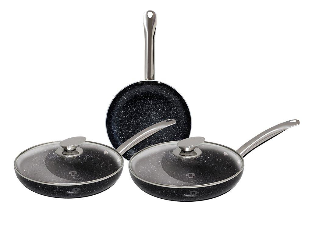 Blaumann - Juego de 5 piezas de fritán con mango de acero inoxidable, colección Le Chef BL-3270: Amazon.es: Hogar