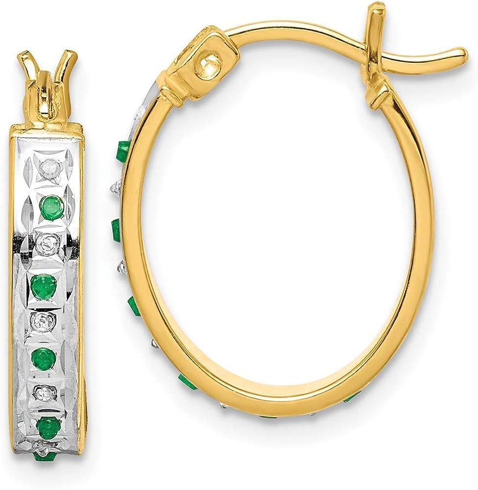 Yellow Gold Finish Green Emerald Twist Design tennis bracelet gift