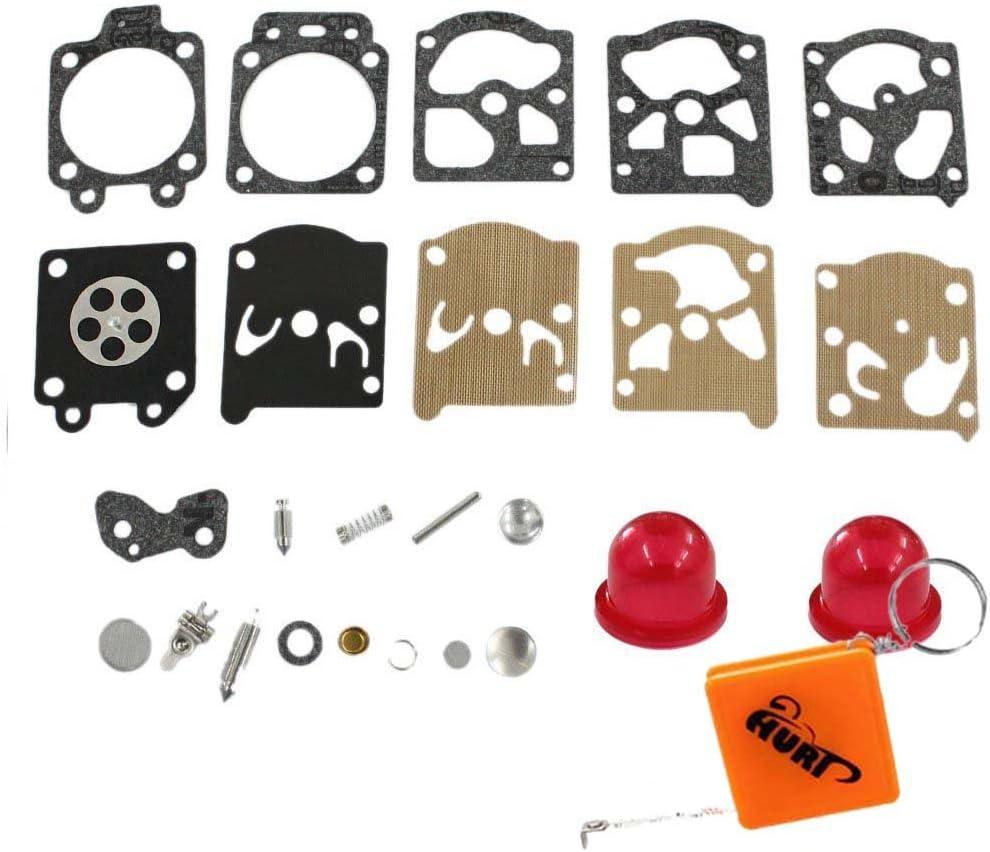 HURI K20-WAT carburatore Kit Membrane guarnizione per McCulloch Trim Ma 210/240/241/250/251/280/281/323S Pro Mac 320.