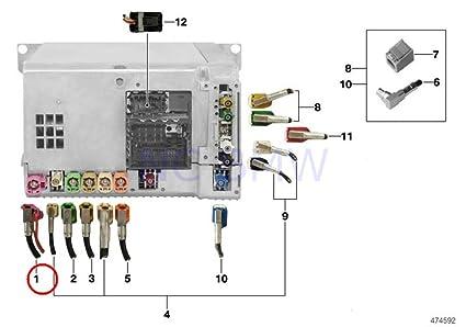 Amazon com: BMW Genuine Headunit High - Cid Connection Cable: Automotive