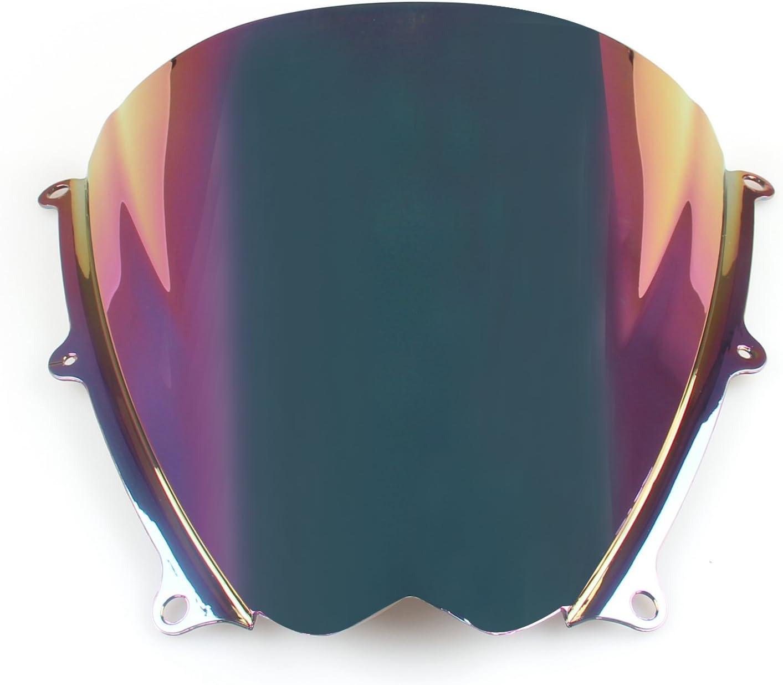 Topteng Motorrad Windschutzscheibe Sport Windschutzscheibe mit ABS Aerodynamik Design f/ür Su-zu-ki GSXR 1000 2007-2008 K7