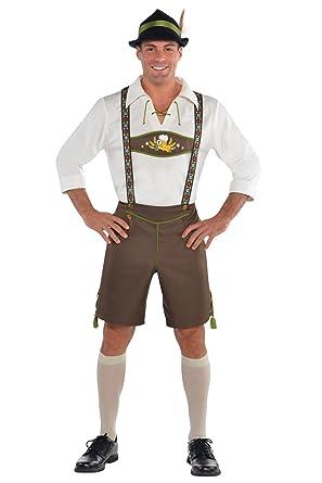 f37304b8a57 Mens Adults Mr. Oktoberfest Men Halloween Bavarian Beer German Lederhosen  Fancy Dress Costume German Drinker