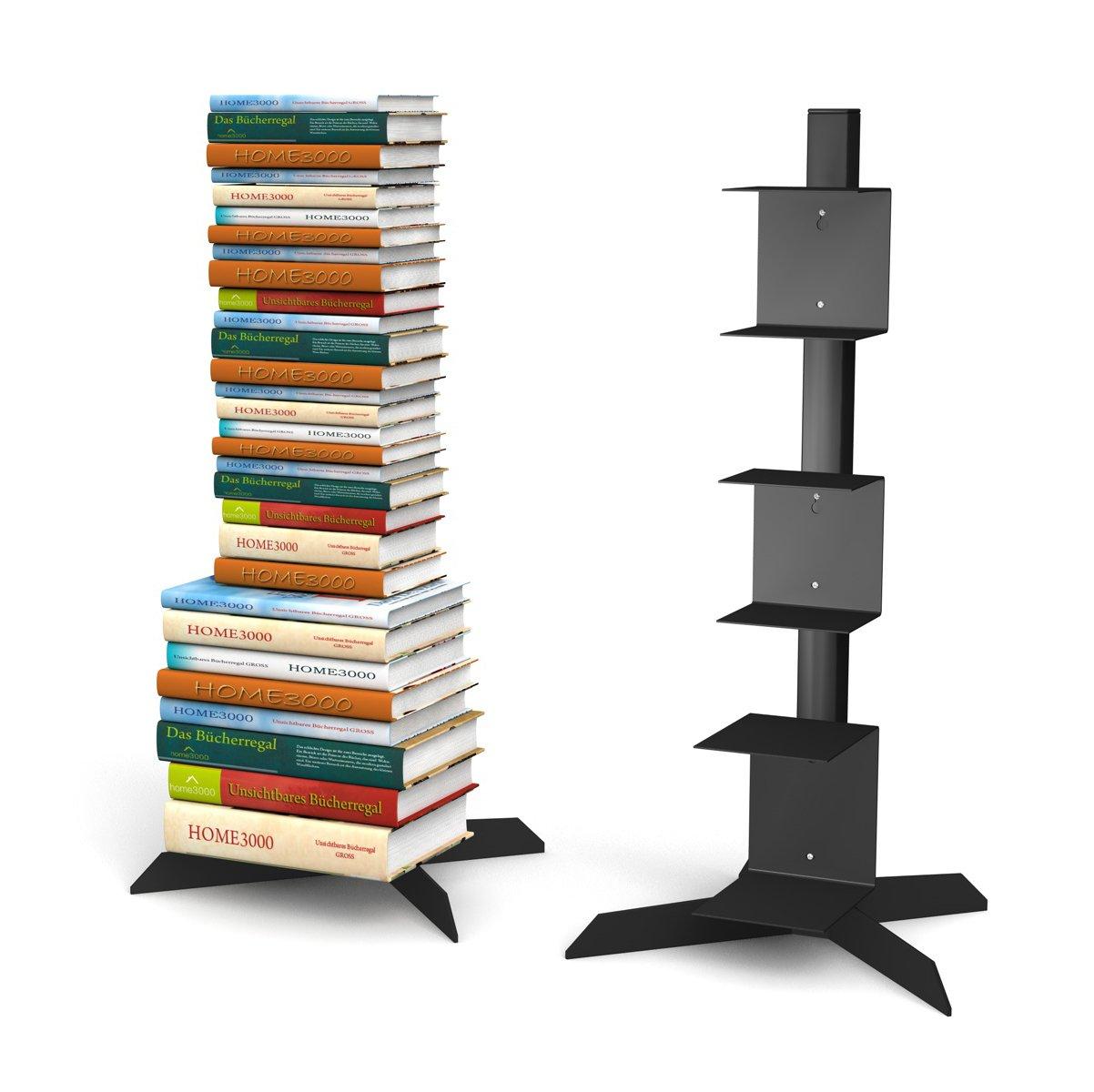 Freistehendes Bücherregal Mit 2 Kleinen Und 1 Grossen Regal In Schwarz Für  Ca. 115 Cm Büchersäule: Amazon.de: Küche U0026 Haushalt