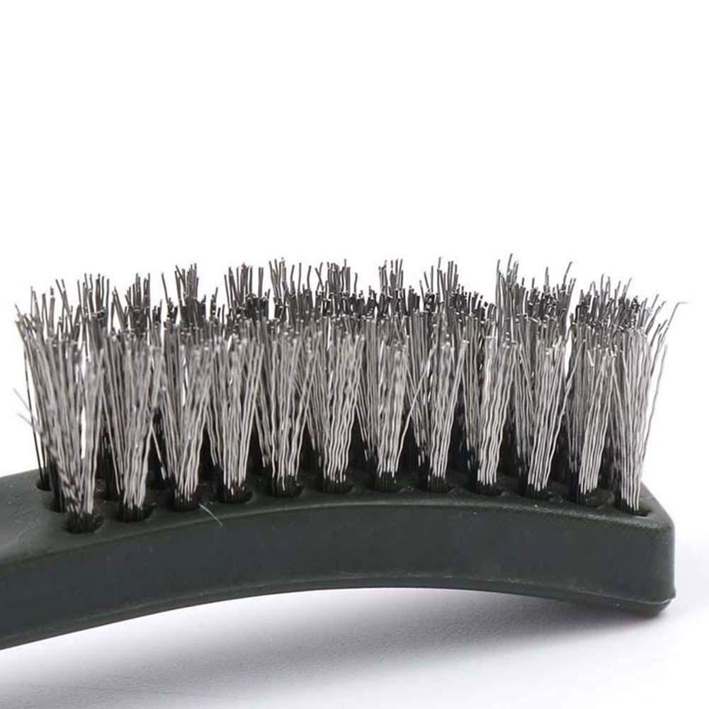 belukies Cepillo de Hilo pequeño Tubo de Acero Latón (Paquete de 3), Manga Nylon Limpieza Pulido Detalle Cepillo de Alambre de Metal Acero Inoxidable y ...