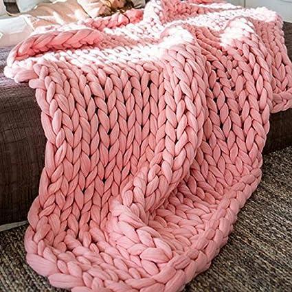 Amazon 50x60in Chunky Knit Blanket Arm Knit Blanketmerino