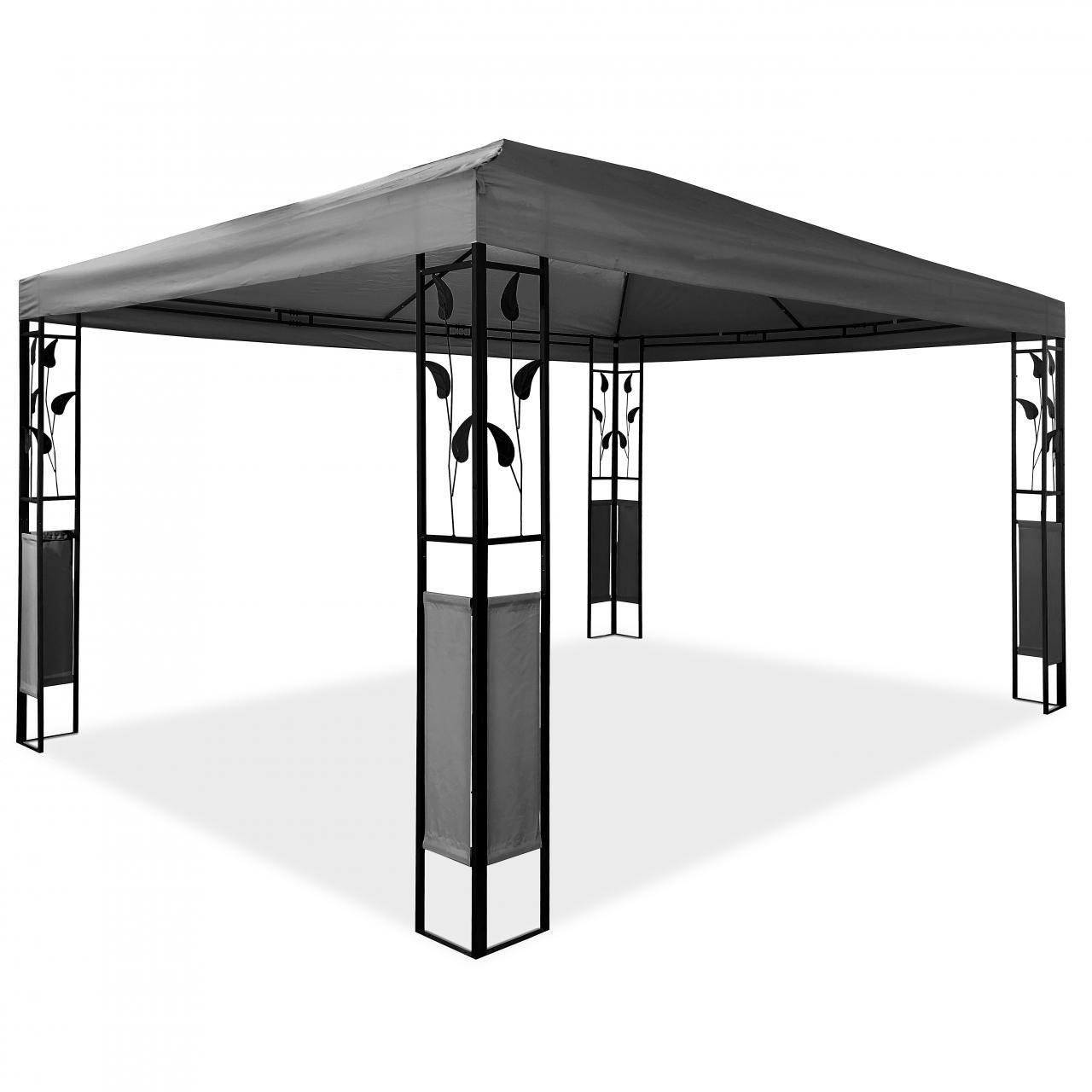 Metall Pavillon mit Ornamenten 3 x 4 m Blätter-Pavillon ...