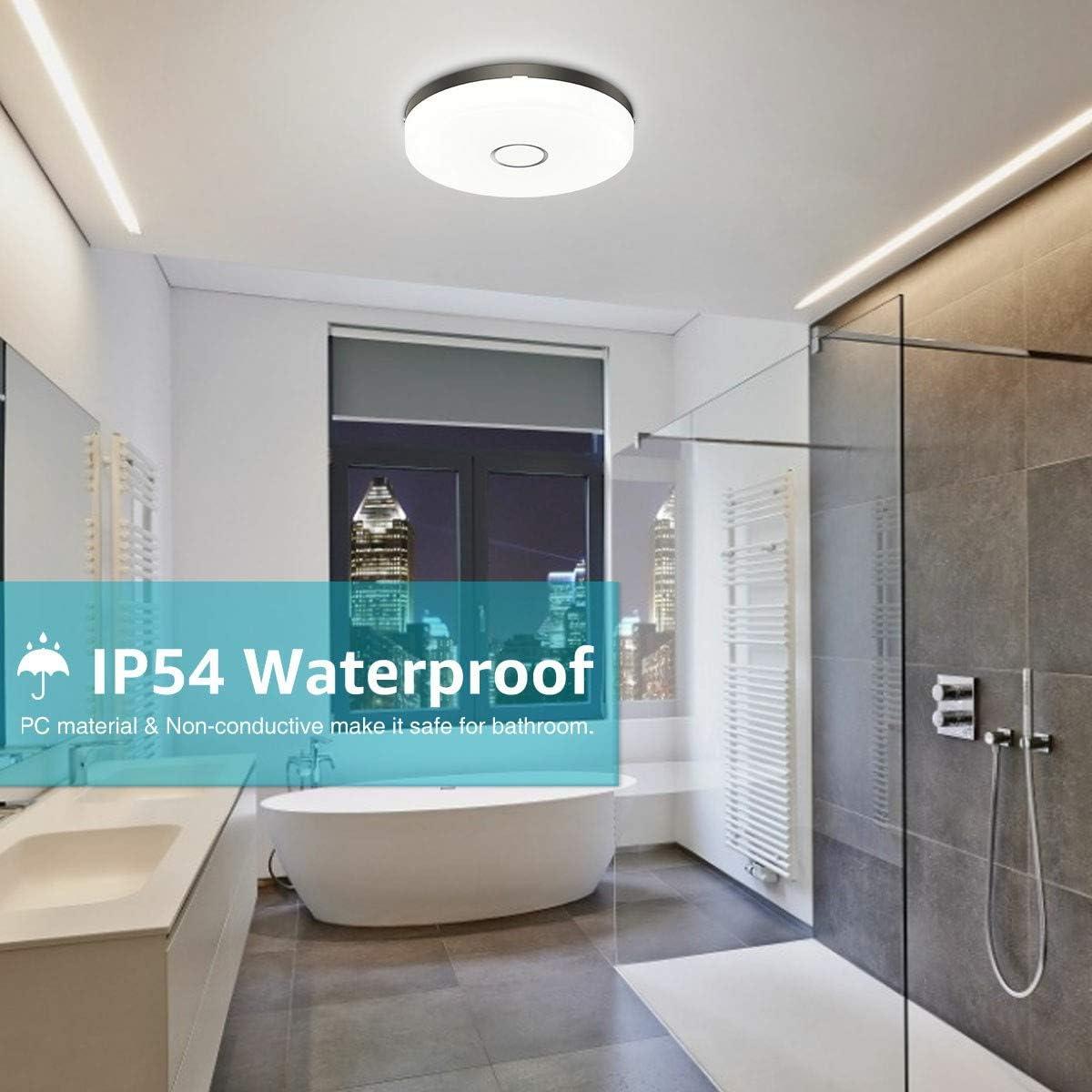 Badlampe IP20 Wasserfest Neutralweiß 20lm Bad Deckenlampe ...