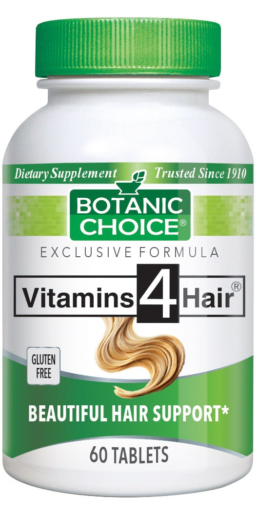 Botanic Choice Vitamins for Hair, 60 Tablets (Pack of 4)