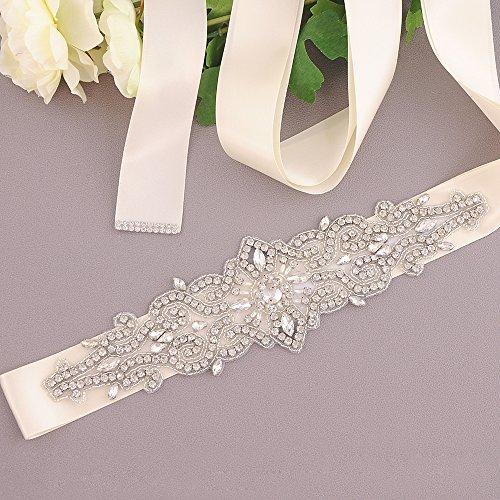 Ivory for Sashes Wedding Simple Sash Azaleas Belts Wedding Beaded Belt Crystal 78FvwxFa