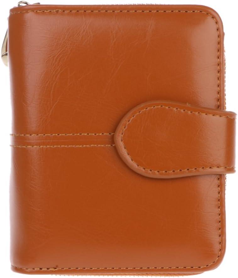 Lamdoo Women Leather Wallet Zip Small Card Holder Coin Purse Ladies Clutch Handbag New Brown