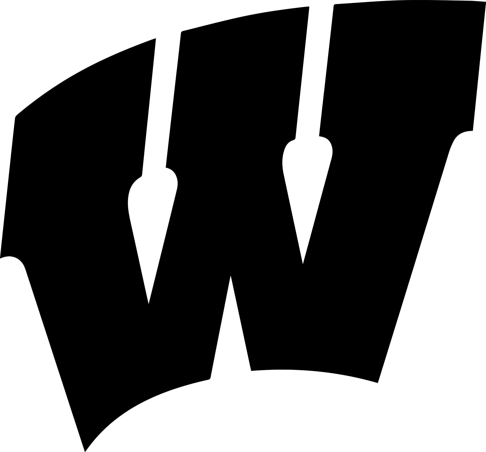 ANGDEST Wisconsin Badgers Logo (Black) Waterproof Vinyl Decal Stickers for Laptop Phone Helmet Car Window Bumper Mug Tuber Cup Door Wall Decoration