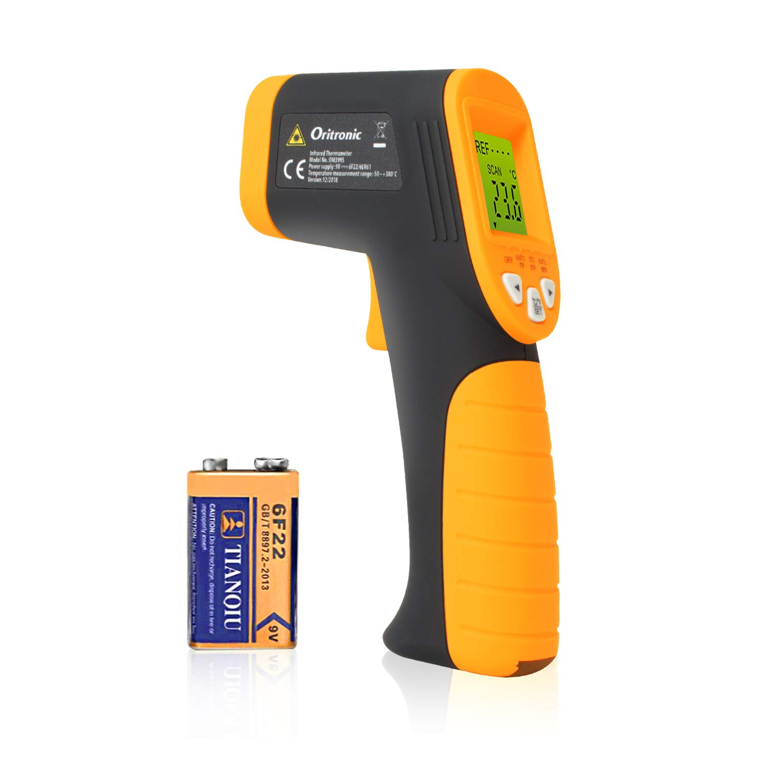 Temperature Gun,Non-Contact Digital Laser Infrared Thermometer Instant Read Thermometer(-58°F to 716°F)