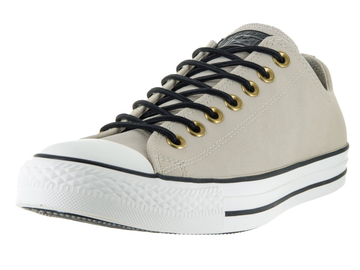 Converse Chuck Taylor All Star Leather/Corduroy Lo B01C825IJU 12 B(M) US Women / 10 D(M) US Men|Frayed Burlap/Egret/Black