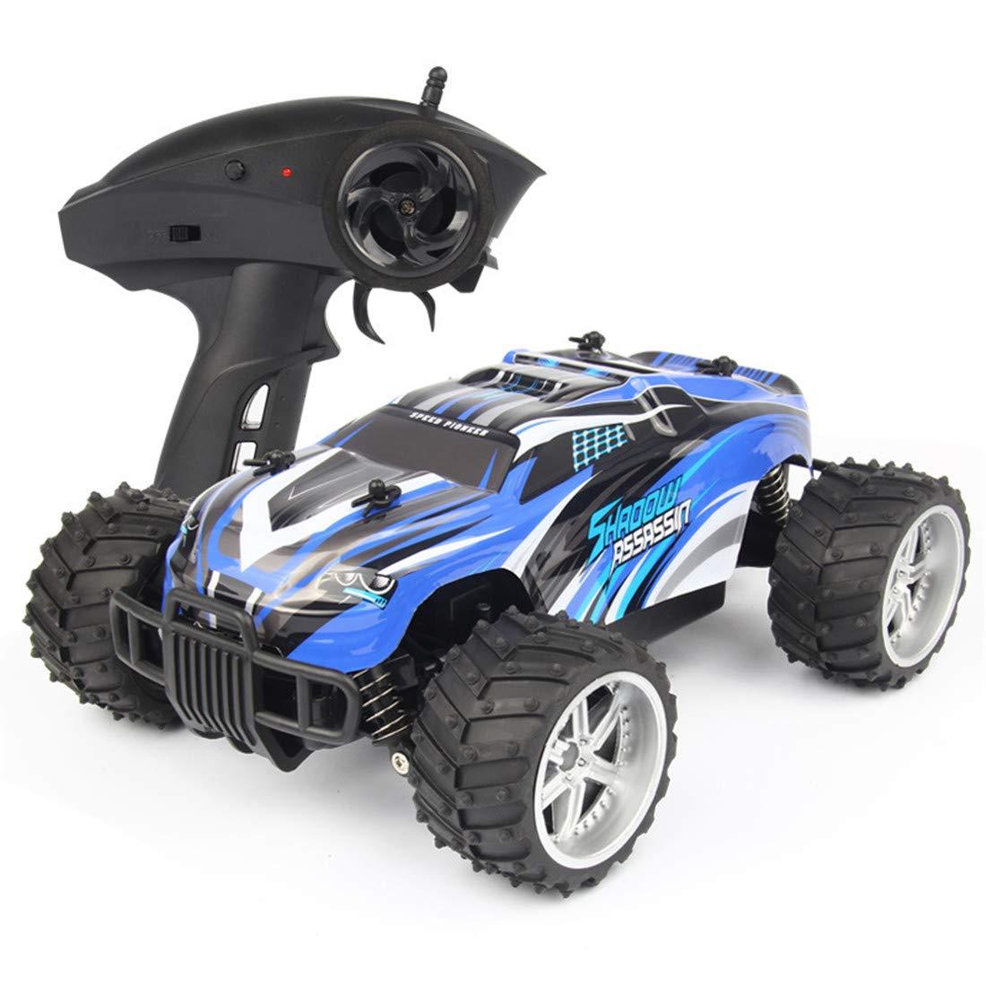 SKY-Toys RC elektrischer Allradantrieb Geschwindigkeitsrennen Aufladungsfernsteuerungsauto 2,4 GHz Fernbedienung 1:16 Kinderspielzeug Modellauto Klettern/Querfeldein,Blau