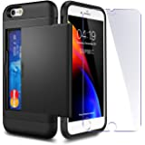 iPhone 6 / 6s Case with Card Holder and[ Screen Protector Tempered Glass x2Pack] SUPBEC i Phone 6 / 6s Wallet Case Cover with