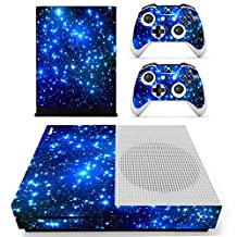 eSeeking Whole Body Vinyl Skin Sticker Decal Cover for Microsoft Xbox One Slim Console Blue Galaxy Nebular