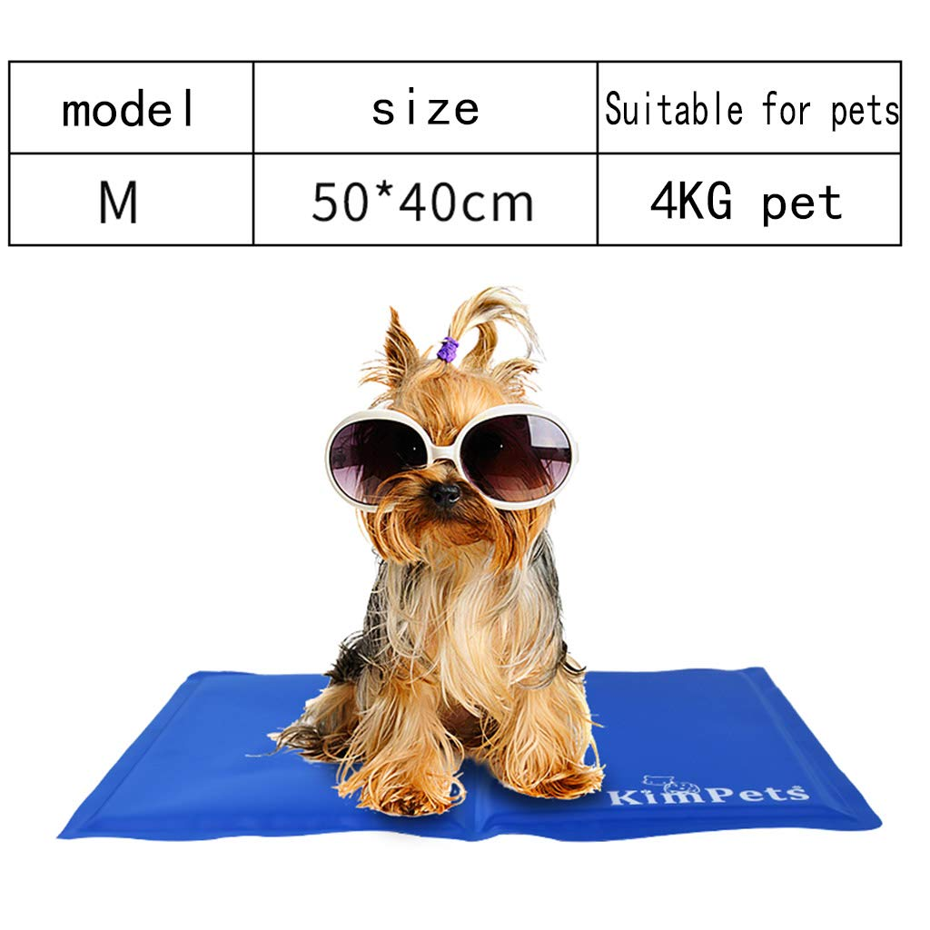 Medium Dog Cooling Mat Summer Gel Cooling Pad for Dogs and Cats Avoid Overheating, Ideal for Home and Travel,M