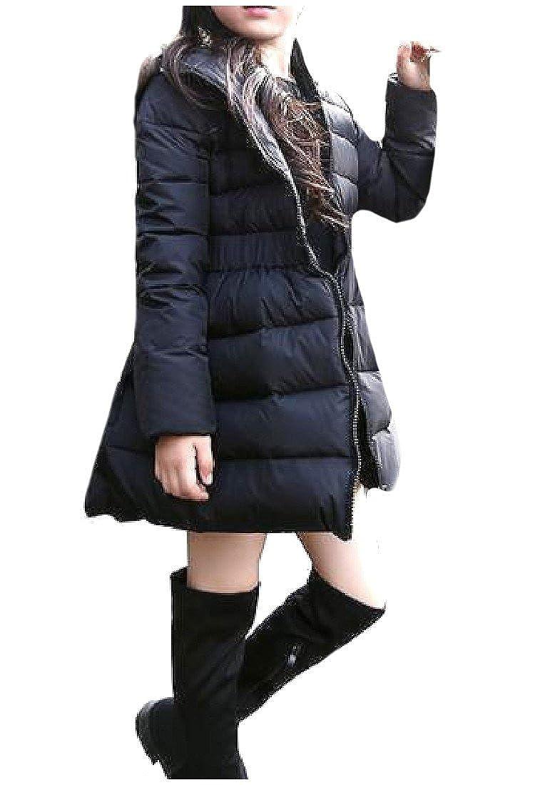 Winwinus Baby Girls With Faux Fur Hood Big Hem Down Jackets Outerwear