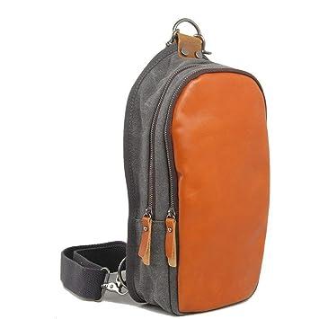 491e2f299220 Amazon.com: Fashion Small Chest Bag Unisex Ccanvas Pouches Can Carry ...