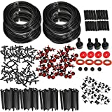 KINGSO 92M Micro Drip Irrigation Kit System Drip Irrigation Tubing Garden Hose Watering Kit Nozzle Sprinkler System for Flower Bed Patio Garden Greenhouse Plants