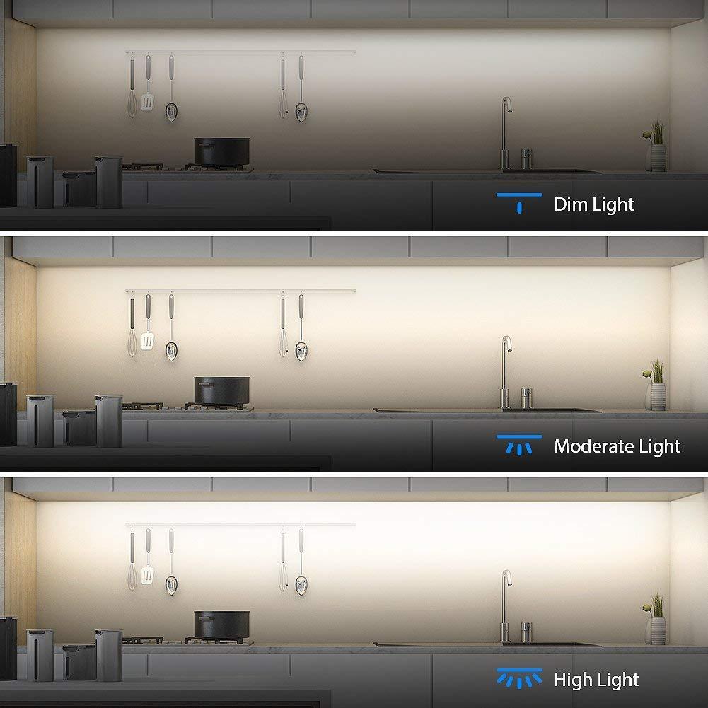 Aglaia Under Cabinet Lighting, LED Closet Light 9W 6000K Dimmable Under Cupboard Light LED for Cabinet, Shelf Locker, Wardrobe, Kitchen 3 Pack