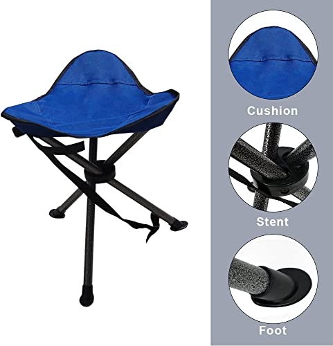 VanRolldex Folding Camping Stool Portable Camp Travel Chair Light Weight Foldable Seat for Fishing Hunting Hiking Travelling Mountaineering Picnic Outdoor Stool
