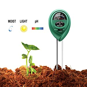 Lindsays 3 in 1 Soil Tester with Moisture,Light and PH Meter, Indoor/Outdoor Plants Care Soil Sensor for Home and Garden, Farm, Herbs & Gardening Tools(No Battery Needed)