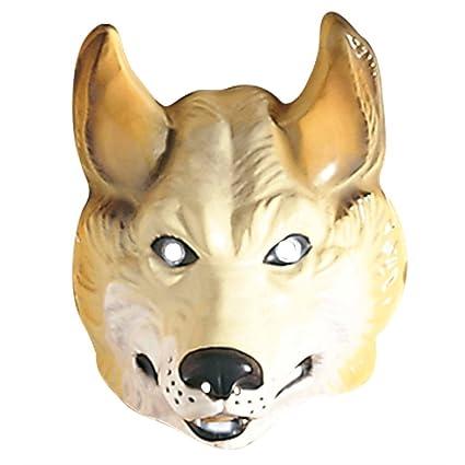 Wolf Máscara Wolf Máscara Marrón Wolfs Máscara Máscara Lobo Animales Máscara Disfraz Accesorio Fasching