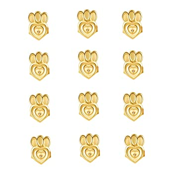Adjustable Ear Lifters 6 Pair 18K Gold Plated Safety Drooping Earring Backs Jewelry Making Fit All Post Earrings Hadskiss Earring Lifters