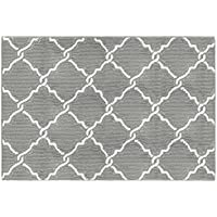 Jean Pierre Yohan 28 x 48 in. Loop Accent Rug, Grey/Soft White