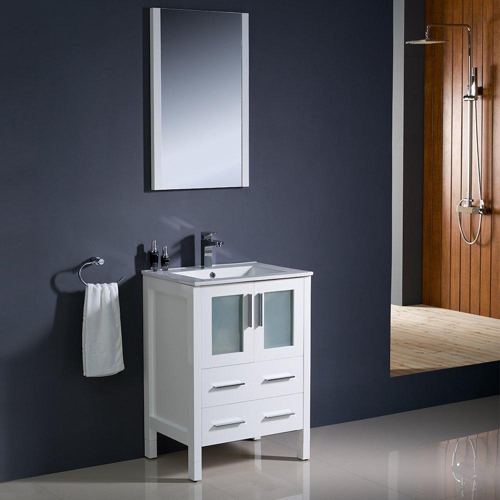 Fresca Bath FVN6224WH-UNS Torino 24\