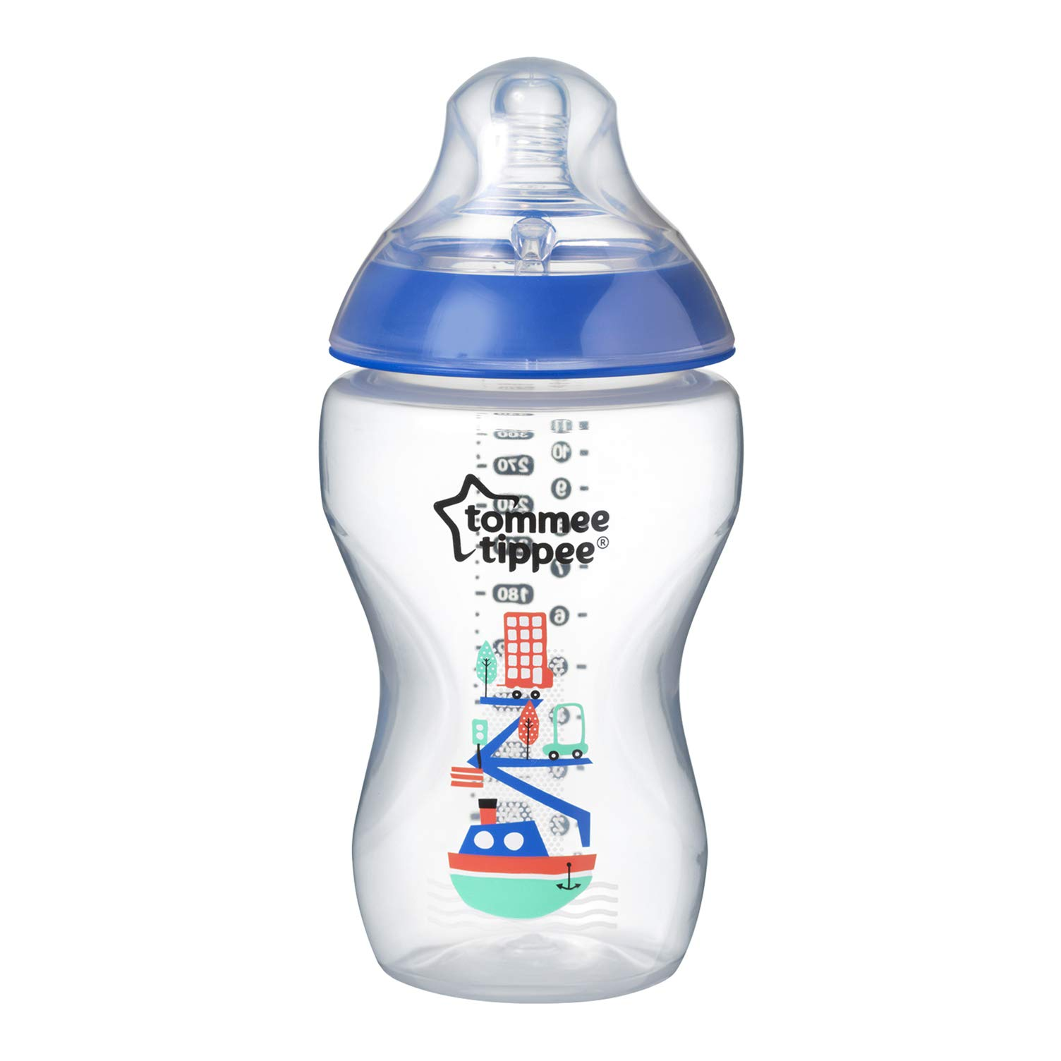 Tommee Tippee 42269787 - Biberón decorado, 340 ml, color azul product image