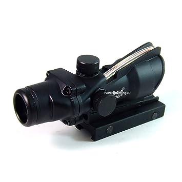 4dcf61a6c5 Type de tactique ACOG 4x32 fonctionnelle Fibre Optique Red Dot Sight Portée  ajustement Rail 20mm pour