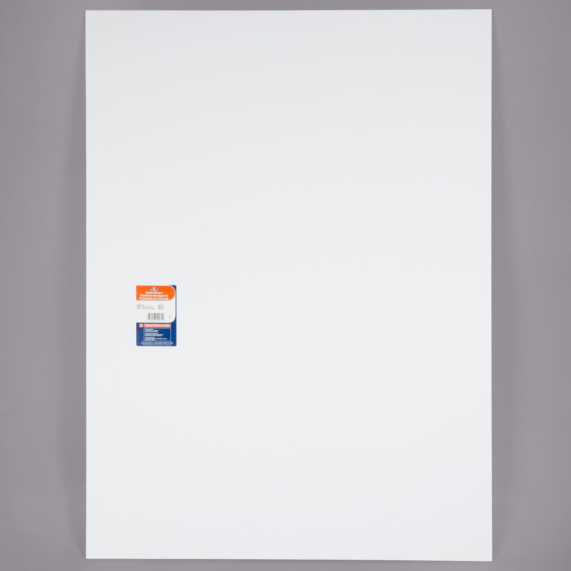 TableTop King 950510 30'' x 40'' White Pre-Cut Foam Board - 25/Case