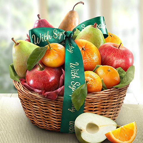 Golden State Fruit Orchard Favorites Gift Basket, Sympathy (Fruit Gift Baskets Sympathy)