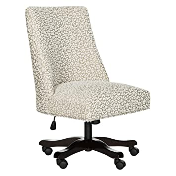 Safavieh MCR1028A Mercer Collection Scarlet Ginger Desk Chair Light White