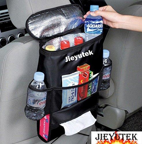 jieyutek Auto Parte Posterior Asiento de coche Organizador titular Multi-Pocket Viajar de almacenamiento Hanging...