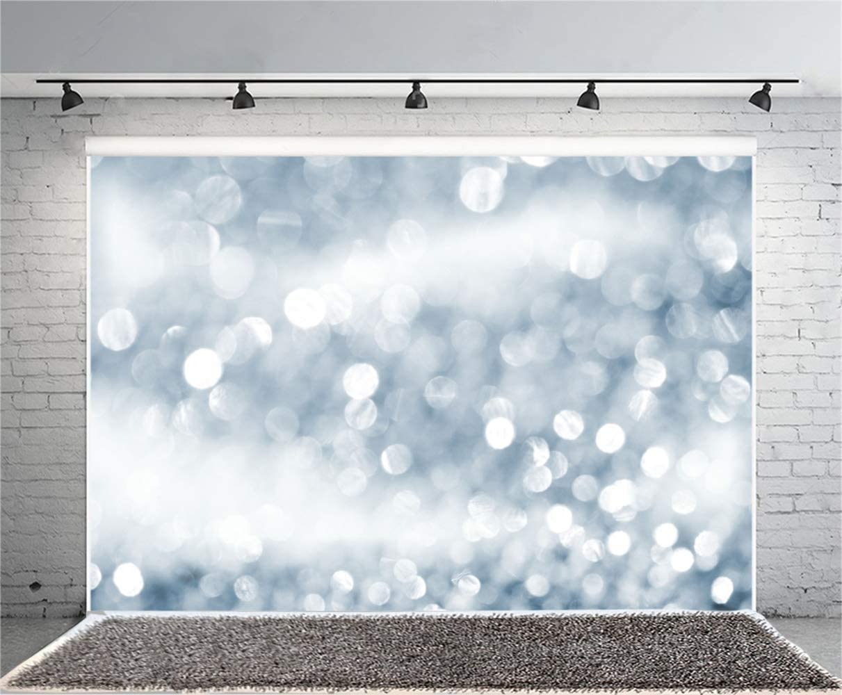 7x5ft Dreamlike Bokeh Sliver Light Spots Haloes Backdrop Polyester Abstract Artistic Photography Background Child Kids Newborn Girl Adult Portrait Shoot Studio Photo Props