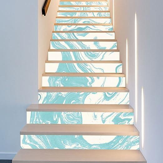BAI-Fine - Autoadhesivo de la escalera de DIY, autoadhesivo del suelo de la escalera del Riser de la escalera 3D DIY Decal Home Decor: Amazon.es: Hogar