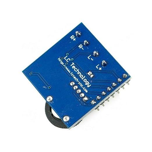 Audio amplificador PAM8403 Chip memoria 3 W con ajuste de volumen potenciómetro para y 2P Terminal para canales izquierdo y derecho de Optimus eléctrico: ...