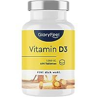 Vitamine D Zonnevitamine - 400 tabletten (13 maanden) - 1000 IU vitamine D3 per tablet - Ondersteunt botten, tanden…