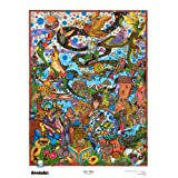 "The Original DoodleArt Fairy Tales Adult Coloring 24""x 34"" & Precision 12 Marker Set"