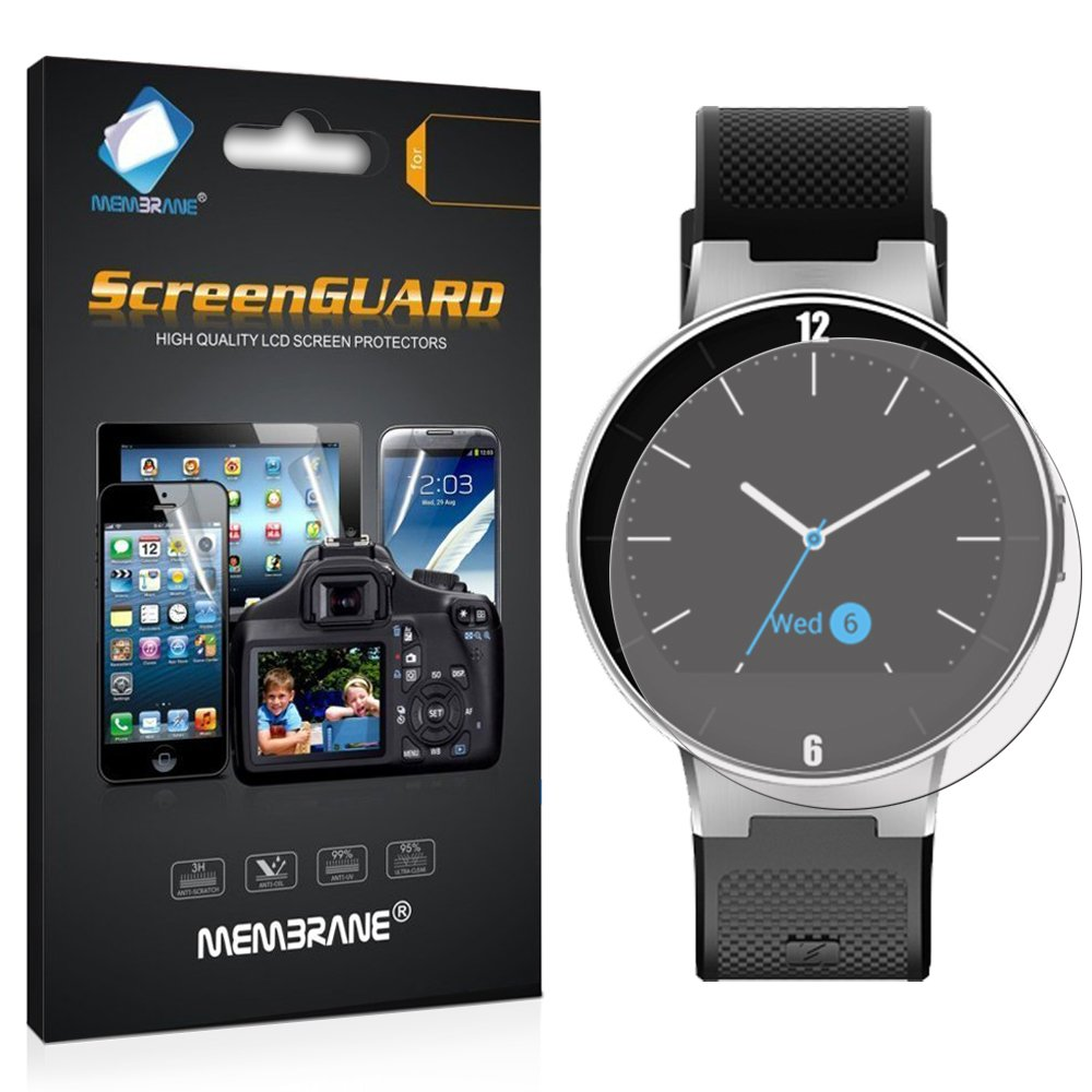 Membrane 3 x Protector de Pantalla compatibles con Alcatel One Touch Watch - Ultra Transparente