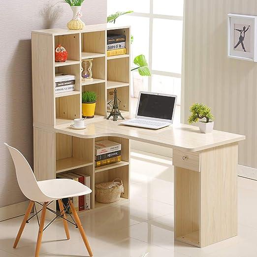 Esquina Tabla De La Computadora,en Forma De L Desk con Estantes ...